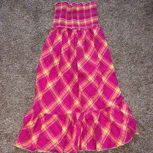 Strapless Smocked Top Midi Dress By VS